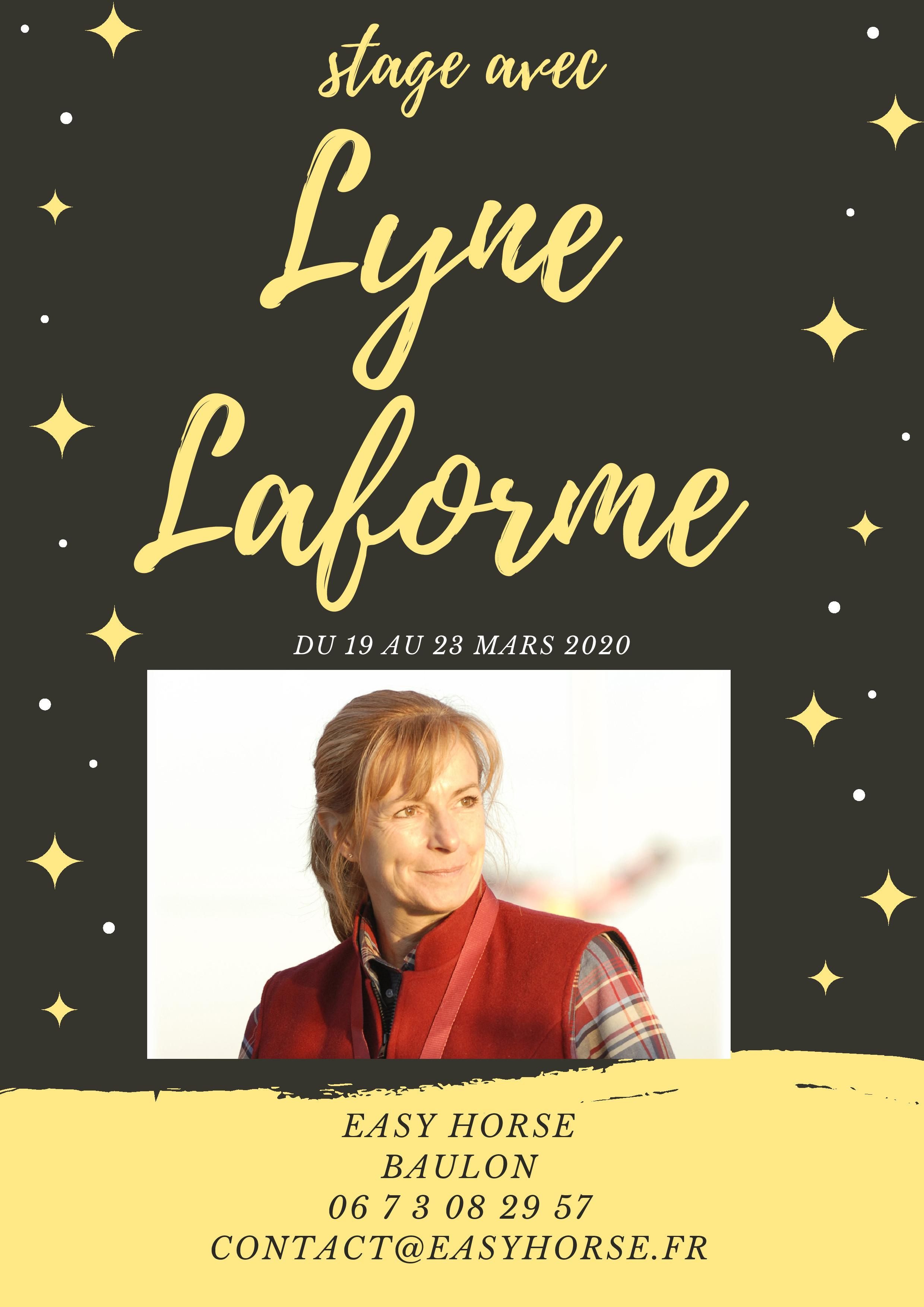 stage LYNE LAFORME, Easy horse